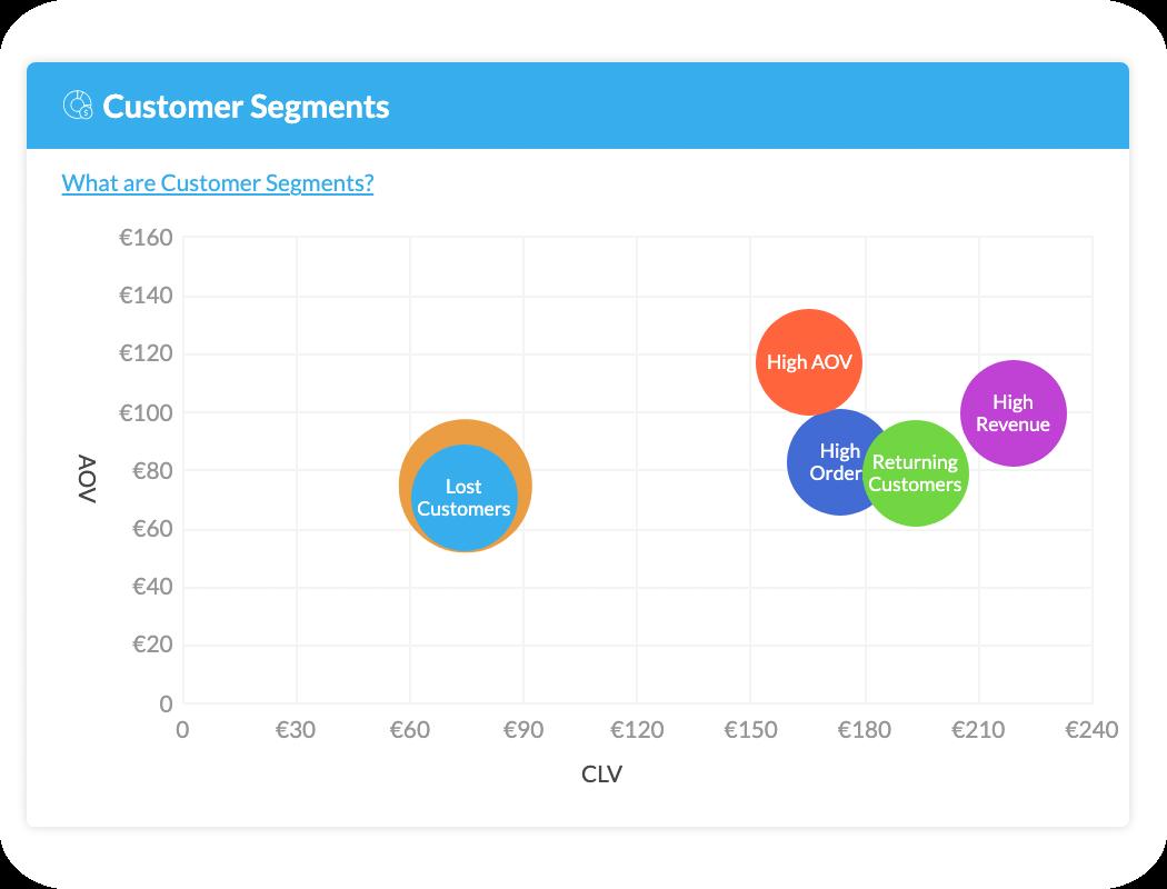 BI AdScale showing customer segments in your own shop
